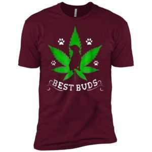 Best Buds Funny Pitbull Weed Dog Premium Tee -
