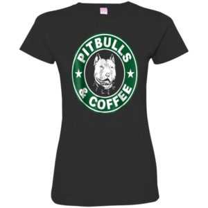 Pitbull and Coffee Fitted Tee -
